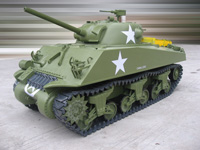 1/6 Scale M4A3 Sherman RC Tank - 75mm Gun(Electric Powered)